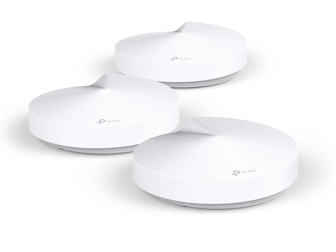 TP-Link Deco M5 (3-pack) Whole-Home Mesh Wi-Fi 1300Mbps Router Built-In Antivirus Security Coverage 1300sqm 2xGigabit Port 1xUSB-C Bluetooth Homecare