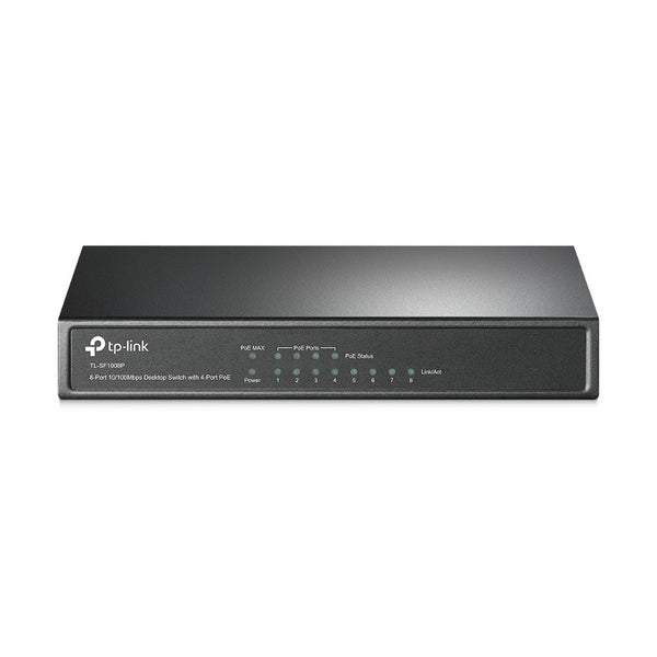 TP-Link TL-SF1008P 8-Port 10/100Mbps Desktop Unmanaged Switch 4-Port PoE 57W IEEE 802.3af, Fanless