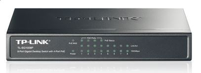 TP-Link TL-SG1008P 8-Port Gigabit Desktop Unmanaged Switch with 4-Port PoE 53W IEEE 802.3af, Fanless