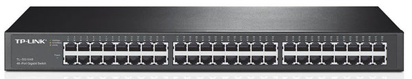 TP-Link TL-SG1048 48-Port Gigabit Rackmount Switch 19-inch rack-mountable steel case 96Gbps Switching Capacity IEEE 802.3x flow control Auto MDI/MDIX