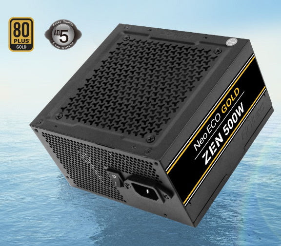 Antec Neo Eco ZEN 500w PSU 80+ Gold, 120mm Silent Fan, Thermal Manager, Japanese Caps, 5 Years Warranty