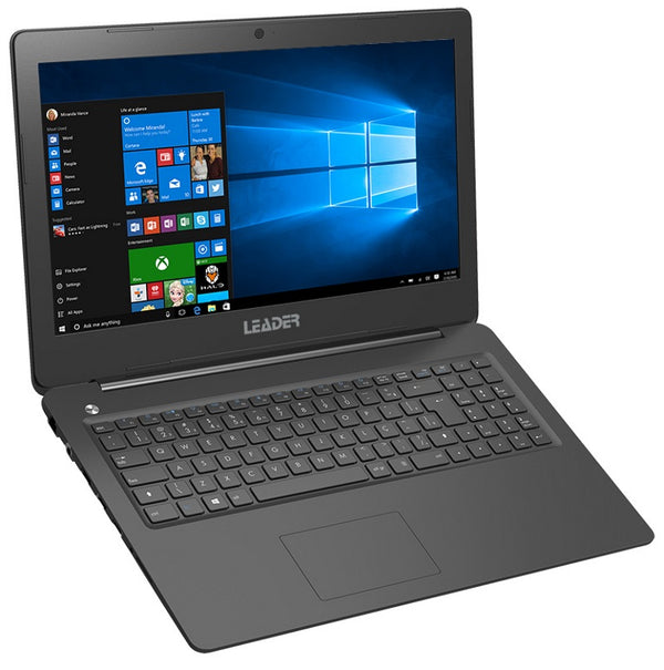 Leader Companion 526 Notebook, 15.6' HD, Intel I5-6200U CPU, 8GB memory, 480GB SSD, Windows 10 Professional, 2 years warranty, HD Camera, Black