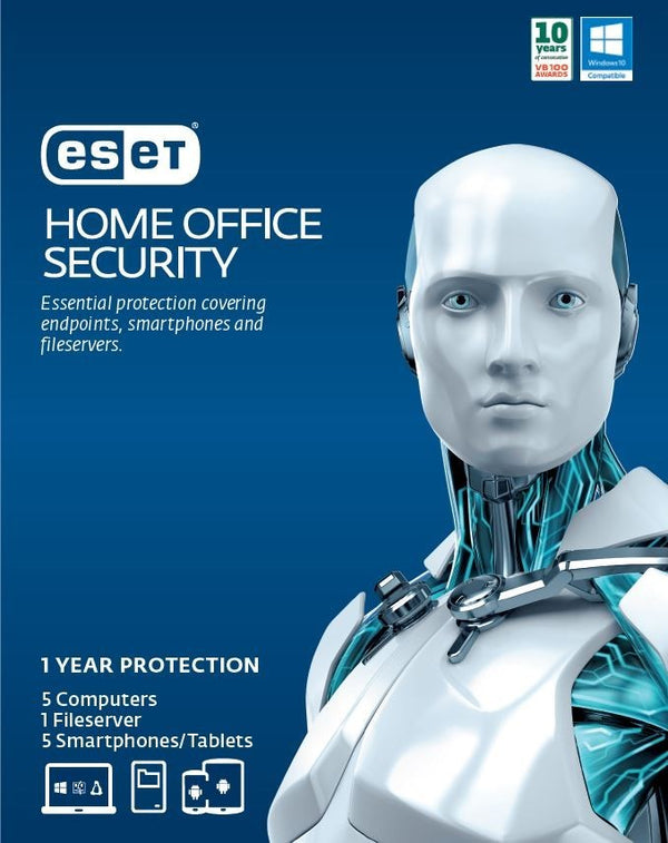 ESET Home Office Security Pack – 5 Endpoints, 5 Android, 1 File Server, 1Y Digital Key Printed Card (SPECIAL)