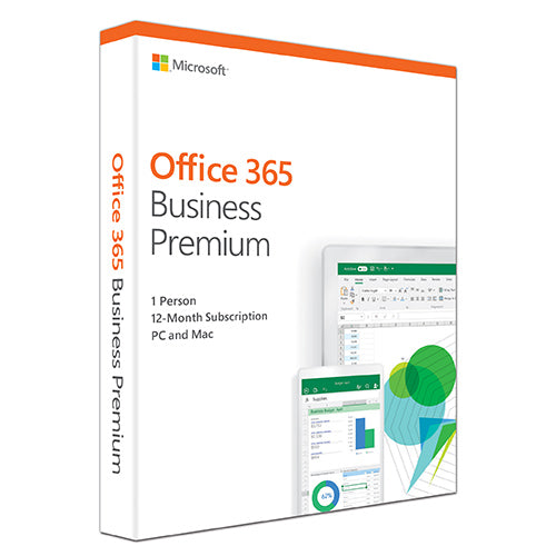 Microsoft Office 365 Business Premium Retail English 1YR Subscription Media less