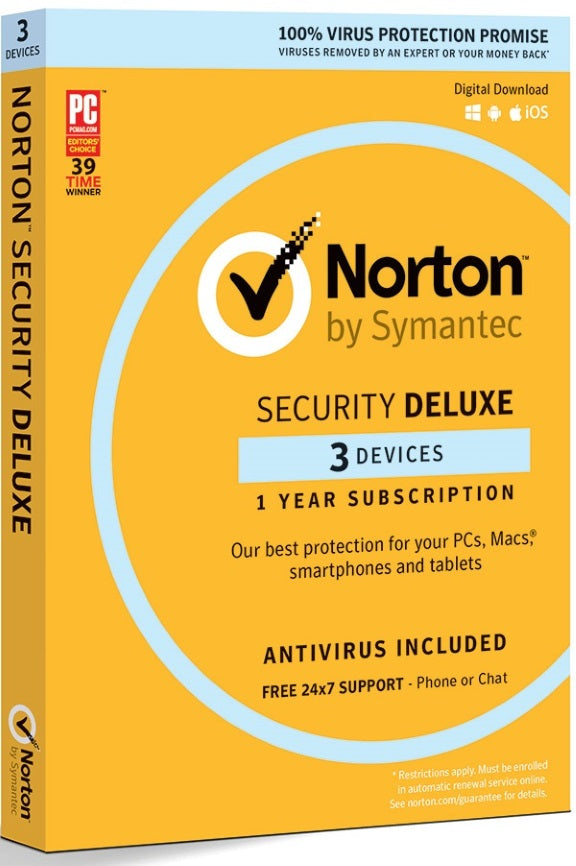 NORTON SECURITY DELUXE 3.0 AU 1 USER 3 DEVICE 12MO RETAIL