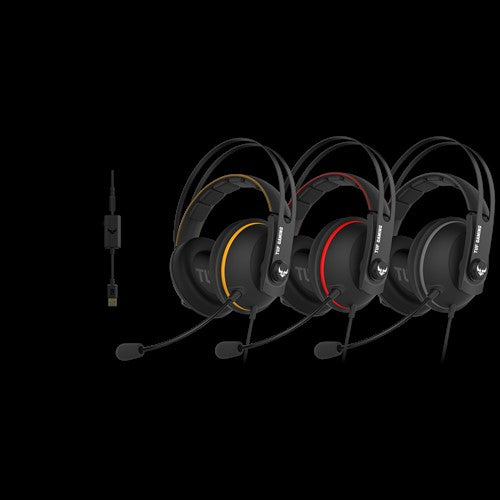 ASUS TUF GAMING H7 RED PC/ PS4 Gaming Headset with Onboard 7.1 Virtual Surround