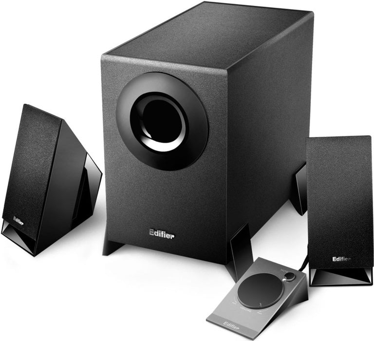 Edifier M1360 2.1 Multimedia Speakers - 3.5mm AUX/4INCH Subwoofer/Remote/RCA Remote Control input