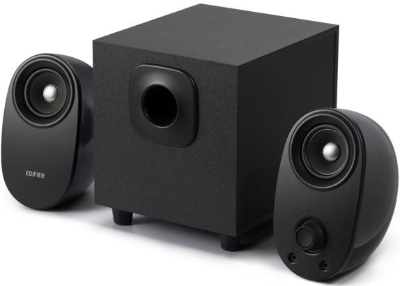 Edifier M1390BT 2.1 Bluetooth Multimedia Speakers - BT/3.5mm AUX/Dual Input/5inch Subwoofer/Ideal for Desktop use/Bass Driver on/off volume controls