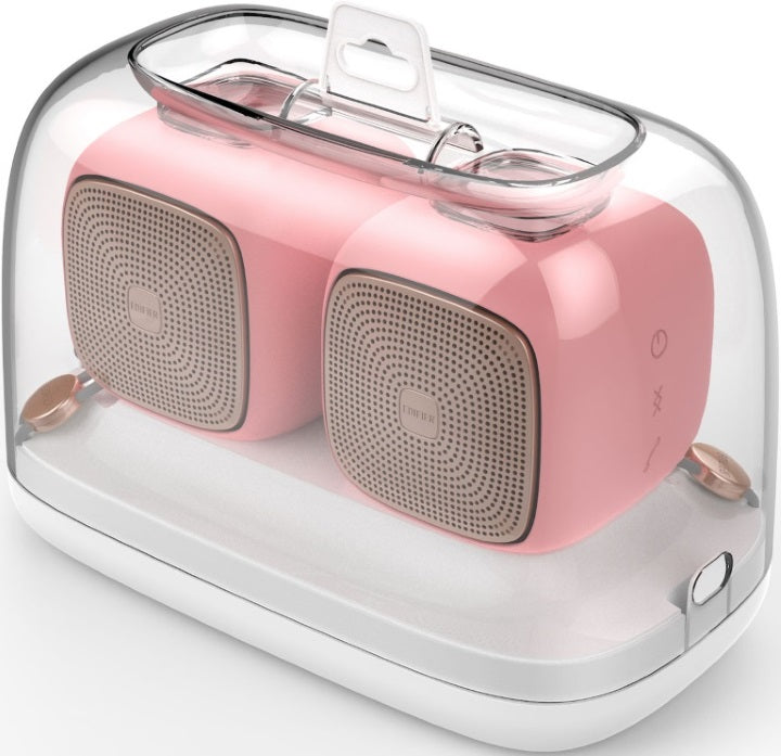 Edifier MP202 DUO 2.0 Bluetooth Portable Speaker - PINK/BT v4.2/MicroSD/USD/9 hrs battery life/12hrs playtime/Rubber Exterior/Pair (LS)
