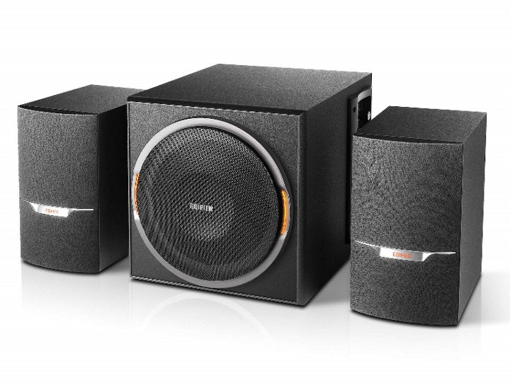 Edifier XM3BT 2.1 Bluetooth Multimedia Speakers - BT4.1/3.5mmAUX/USB/SD/FM Radio Turner/ LED Lighting Effect/ 38W RMS/MDF Wooden Enclosure