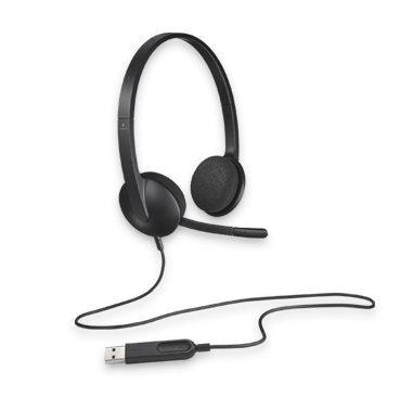 Logitech H340 Plug-and-Play USB headset with Noise Cancelling Microphone Comfort Design fro Windows Mac Chrome 2yr wty