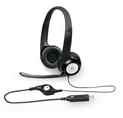 Logitech H390 USB Headset Adjustable,USB,2 Years Noise cancelling mic In-line audio controls