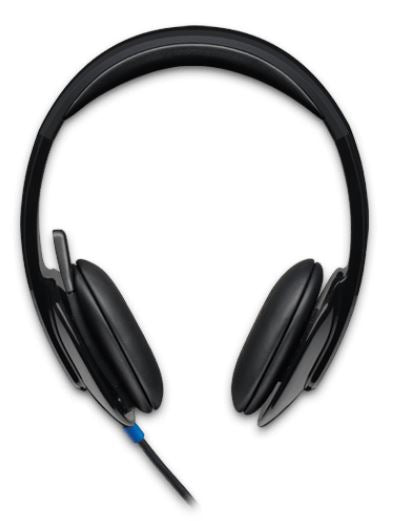 Logitech H540 USB Headset Laser-tuned drivers, 2Yr Plug and play Listen to details Crystal-clear voice Take control of the sound