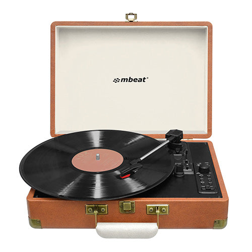 mbeat® Woodstock Retro Turntable Recorder with Bluetooth & USB Direct Recording