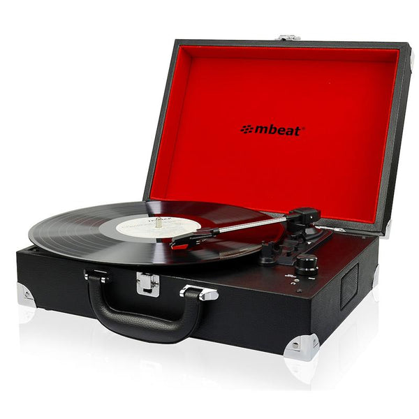 mbeat®Retro Briefcase-styled USB Turntable Recorder