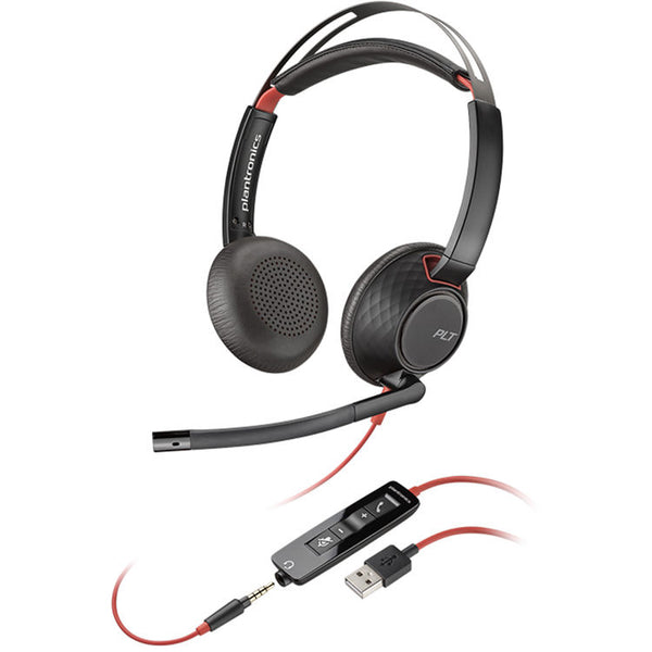 Plantronics Blackwire 5220 - 5200 Series - headset - on-ear - wired - USB, 3.5 mm jack