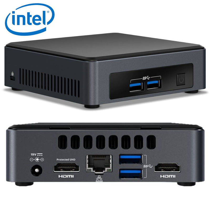 Intel NUC mini PC i5-7300U 3.5GHz 2xDDR4 SODIMM M.2 SSD 2xHDMI 2xDisplays GbE LAN WiFi BT 4xUSB3.0 vPro 24/7 for Digital Signage POS