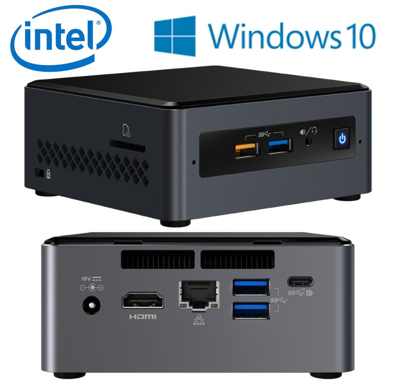 Intel NUC mini PC i3-7100U 2.4GHz 4GB 1TB HDD M.2 16GB Optane Windows 10 Home HDMI USB-C (DP1.2) 3xDisplays GbE LAN WiFi BT 4xUSB3.0 BOXNUC7I3BNHXF