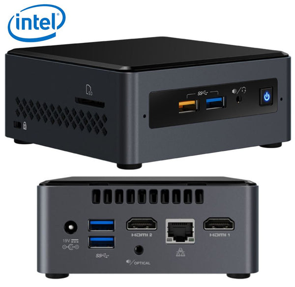 Intel NUC mini PC J5005 2.8GHz 2xDDR4 SODIMM 2.5' HDD/SSD 2xHDMI 2xDisplays GbE LAN WiFi BT 4xUSB3.0 2xUSB2.0 for Digital Signage POS BOXNUC7PJYH4
