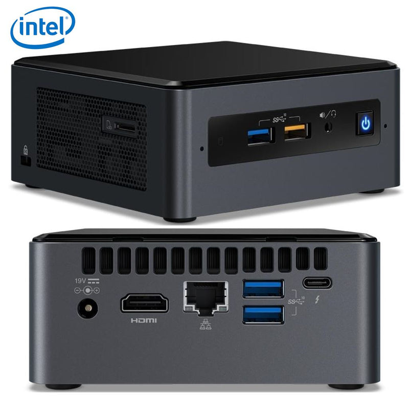 Intel NUC mini PC i5-8259U 3.8GHz 2xDDR4 SODIMM 2.5' HDD M.2 SATA/PCIe SSD HDMI USB-C (DP1.2) 3xDisplays GbE LAN WiFi BT 6xUSB Digital Signage POS