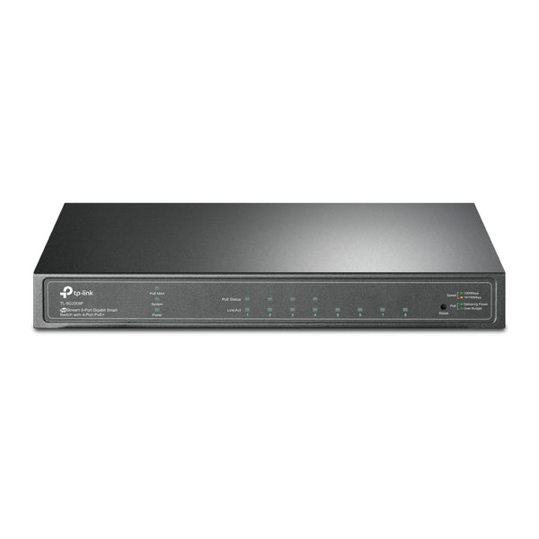 TP-Link TL-SG2008P JetStream 8-Port Gigabit Smart Switch with 4-Port PoE+ Fanless Support Omada SDN, 802.1p CoS/DSCP QOS and IGMP Snooping