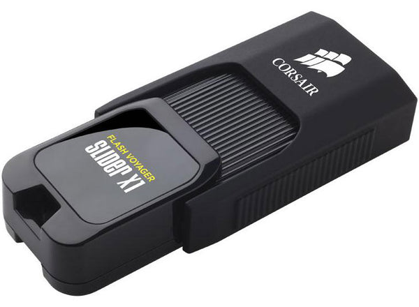 Corsair Flash Voyager Slider X1 32GB USB 3.0 Flash Drive - Capless Design Read 130MBs Plug and Play