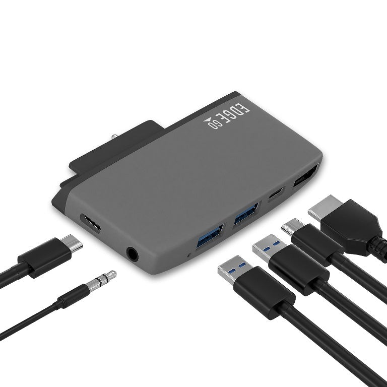 mbeat Edge Go Multifunction USB- C Hub for Microsoft Surface Go (USB 3.0 Data x 2, USB-C Data x 1, HDMI, 3.5mm Audio, USB-C PD pass through charge)