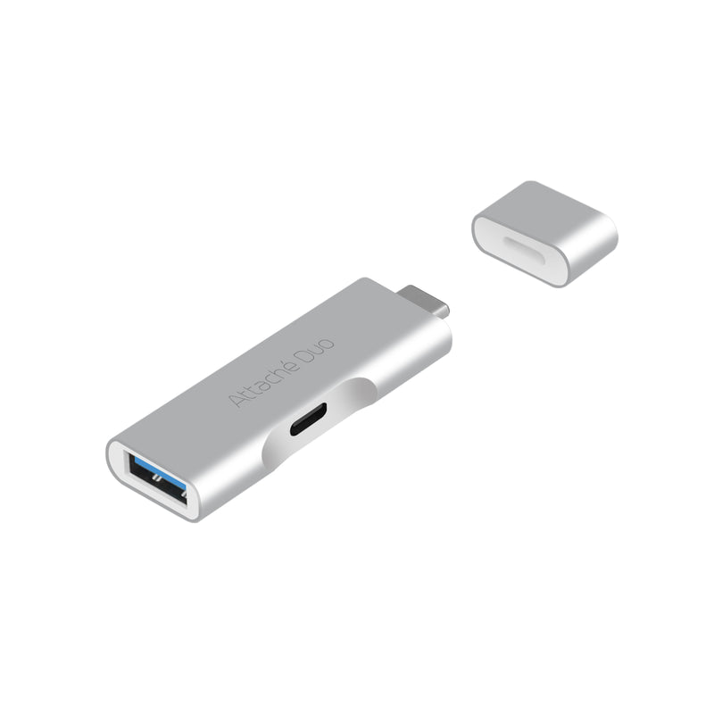 mbeat Attach© Duo Type-C To USB 3.1 Adapter With Type-C Port - Support USB 3.1/3.0/2.0/1.1 devices