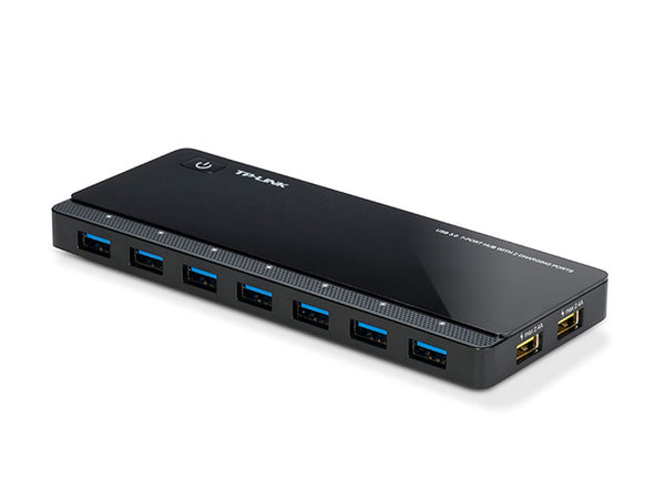TP-Link UH720 USB 3.0 7-Port Hub with 2 Charging Ports 5V/2.4A 5Gbps transfer speeds for iOS and Android devices