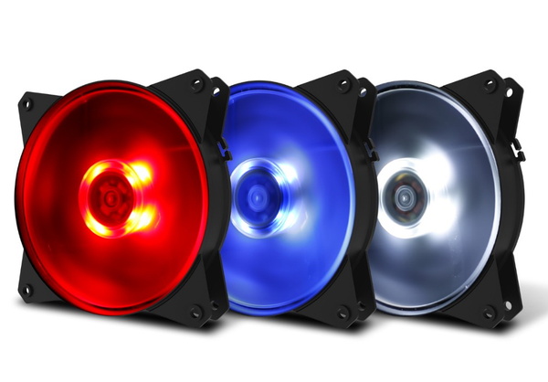 Cooler Master MasterFan MF120L 120mm Blue/Red/White LED Fan
