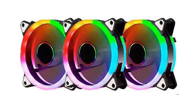 12cm Dual Ring RGB Self-Controlled Case Fan (Single Fan)
