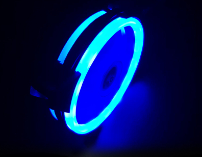 12cm Dual Ring Blue LED Silent Case Fan