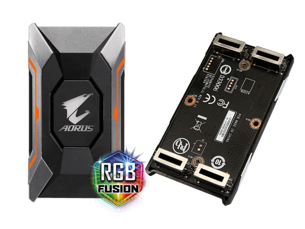 Gigabyte GC-A2WAYSLIL RGB Aorus SLI HB bridge RGB 4K+ 8cm 2 slot spacing for nVidia GTX 10 series graphic cards Dual Link SLI HB ~GC-A2WAYSLI RGB