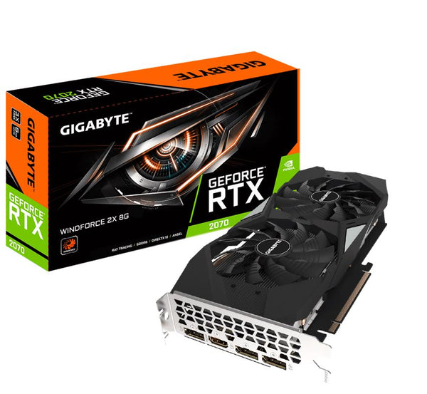 Gigabyte nVidia GeForce RTX 2070 Windforce 2X 8GB 8K 7680x4320@60Hz 3xDP1.4 1xHDMI2.0 USB-C 1620MHz RGB ~GV-N2070WF3-8GC LS