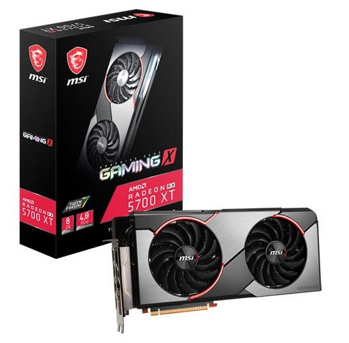 MSI AMD Radeon RX 5700 XT Gaming X 8G GDDR6 PCIe 4.0 Graphics Card 7680x4320 4xDisplays 3xDP HDMI 1925/1630 MHz TORX FAN3.0 auto-tuning