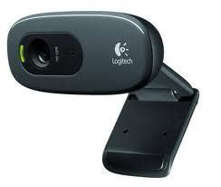 Logitech C270 3MP HD Webcam 720p/Built in Mic/Light Correc/IM compatibility