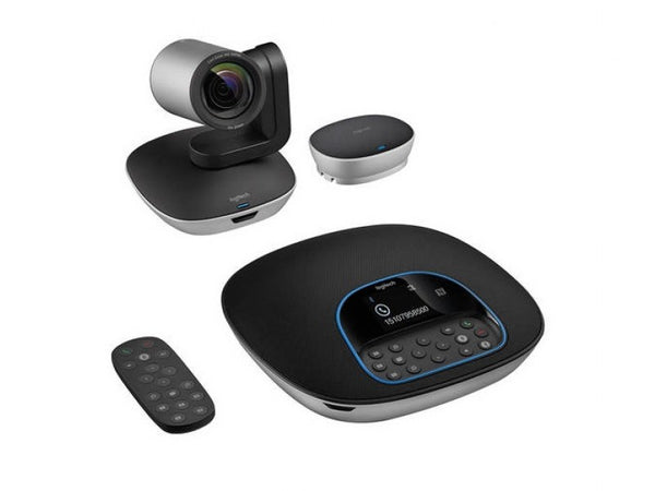 Logitech CC3500e Conference Cam Group HD Video Conferencing Webcam for Med-Large Meeting Rooms 1080p Pan Tilt Zoom Camera & Speakerphone BT NFC