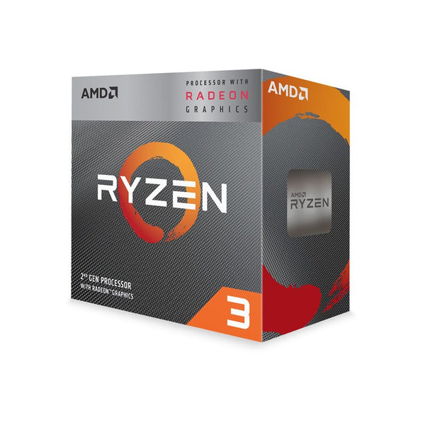 AMD Ryzen 3 3200G, 4 Core AM4 CPU, 3.6GHz 4MB 65W w/Wraith Stealth Cooler Fan RX Vega Graphics Box