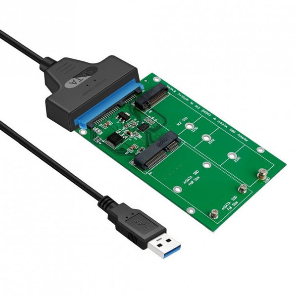 Simplecom SA221 USB 3.0 to mSATA + M.2 (NGFF) SSD 2 in 1 Combo Adapter