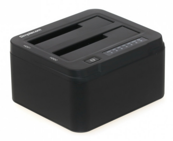 "Simplecom SD322 Aluminium Dual Bay USB 3.0 Docking Station for 2.5"" and 3.5"" SATA HDD"