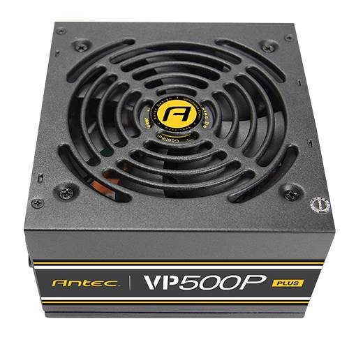 Antec VP500P PLUS 500w PSU. 120mm Silent Fan. MEPS Compliant. 3 Years Warranty
