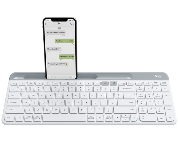 Logitech K580 Slim Multi-Device Wireless Keyboard Graphite/White