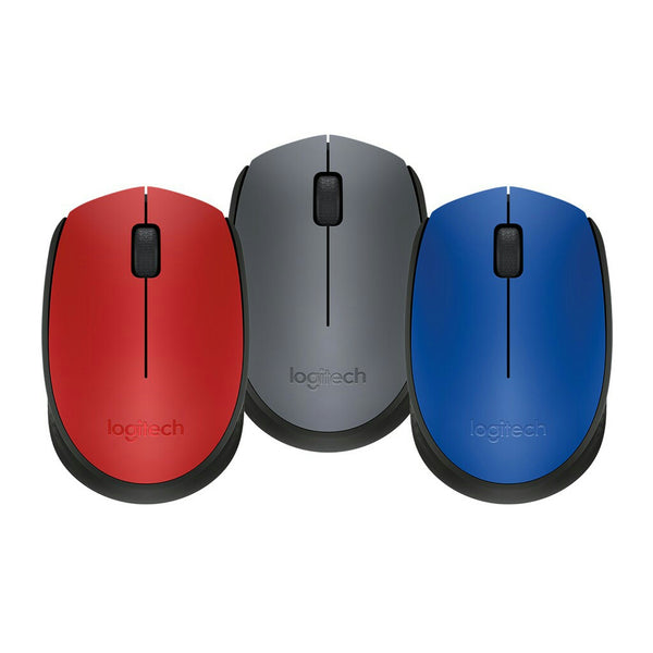 Logitech M171 Wireless Mouse Grey/Blue/Red