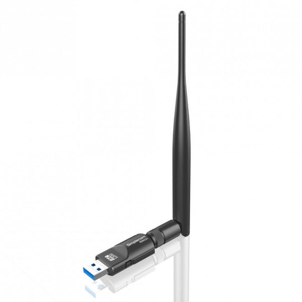 Simplecom NW621 AC1200 WiFi Dual Band USB Adapter with 5dBi High Gain Antenna