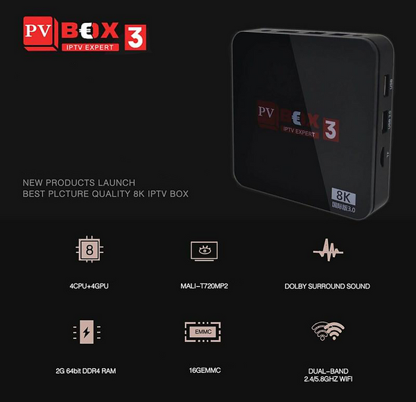 PV Box 3 AUTHORISED TV BOX HK TW CHINA TAIWAN KOREA JAPAN