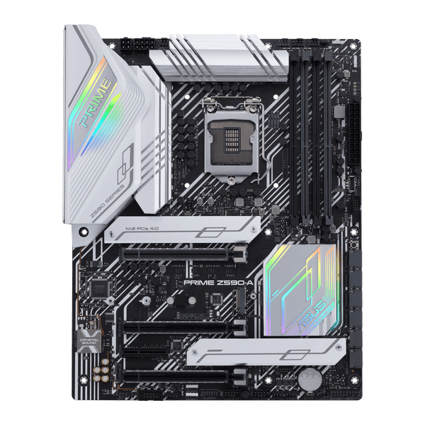 ASUS PRIME Z590-A Intel Z590 (LGA 1200) ATX motherboard with PCIe 4.0, 3xM.2 slots HDMI DisplayPort SATA 6 Gbps, Intel 2.5 Gb Ethernet RGB