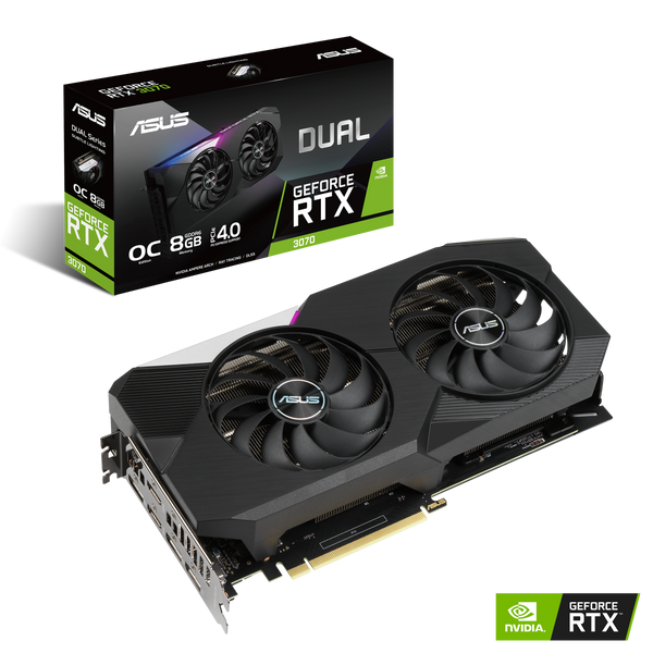 ASUS GeForce DUAL RTX 3070 OC Edition , 8GB GDDR6