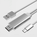 USB-C to HDMI Male to Male 2m Cable for Phone & PC