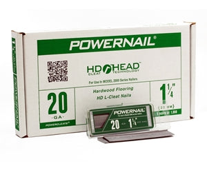 Powernail L-125205 20 GA. HD Flooring L-Powercleats 1-1-4 Inch Box of 5,000