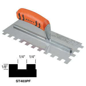 "1-4"" x 1-8"" x 1-4"" Square-notch Trowel with ProForm® Handle"